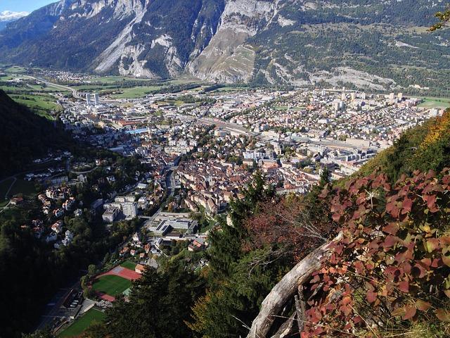 Blick auf Chur, Schweiz