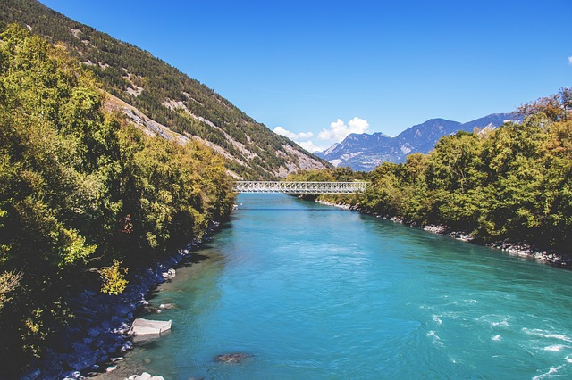 Brücke bei Chur in der Schweiz
