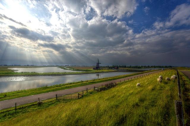 Camping am Deich in den Niederlanden